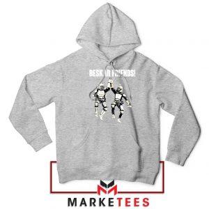 Beskar Friends The Mandalorian Sport Grey Hoodie