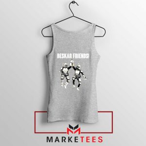 Beskar Friends The Mandalorian Sport Grey Tank Top