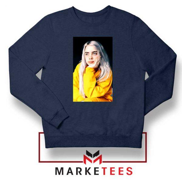 Billie Eilish 90s Vintage Navy Blue Sweatshirt
