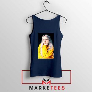 Billie Eilish 90s Vintage Navy Blue Tank Top