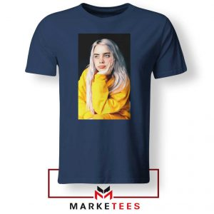 Billie Eilish 90s Vintage Navy Blue Tee Shirt