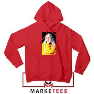 Billie Eilish 90s Vintage Red Hoodie