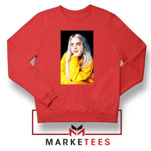 Billie Eilish 90s Vintage Red Sweatshirt