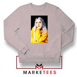 Billie Eilish 90s Vintage Sport Grey Sweatshirt