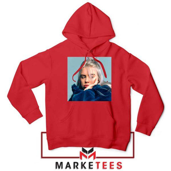 Billie Eilish American Artist Red Hoodie