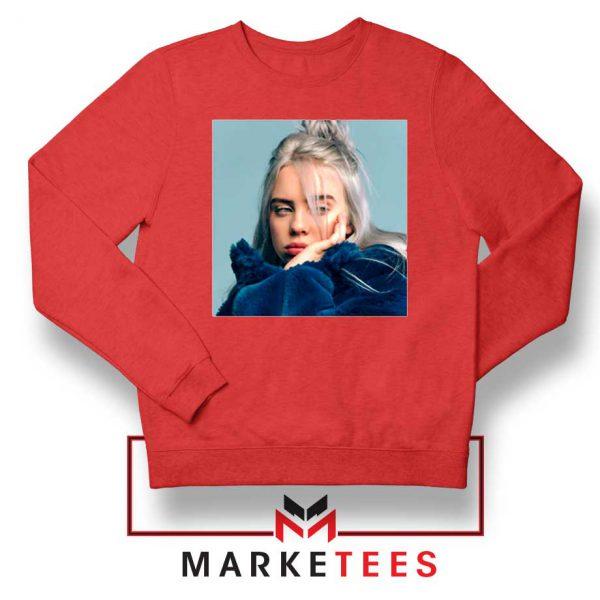 Billie Eilish American Artist Red Sweatshirt