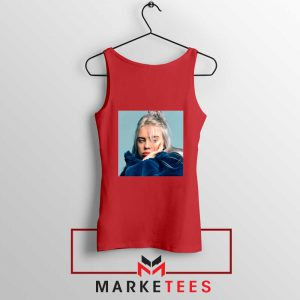 Billie Eilish American Artist Red Tank Top