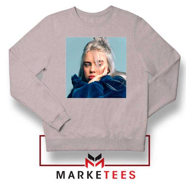 Billie Eilish American Artist Sport Grey Sweatshirt