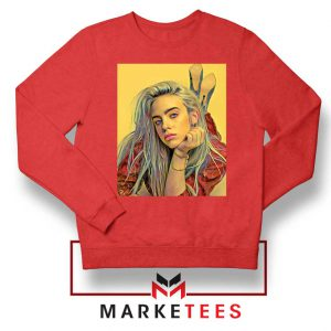 Billie Eilish Artist Music Red Sweater