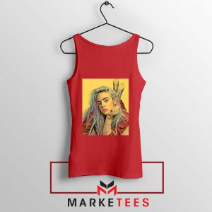 Billie Eilish Artist Music Red Tank Top