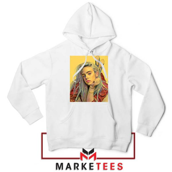 Billie Eilish Artist Music White Hoodie
