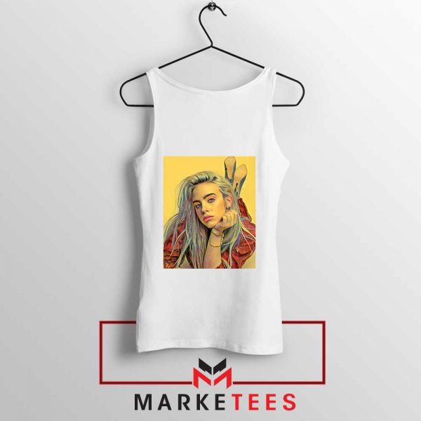 Billie Eilish Artist Music White Tank Top
