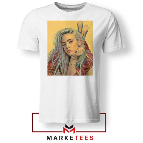 Billie Eilish Artist Music White Tee Shirt