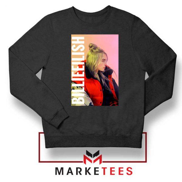 Billie Eilish Artist Poster Black Sweater
