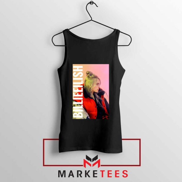 Billie Eilish Artist Poster Black Tank Top
