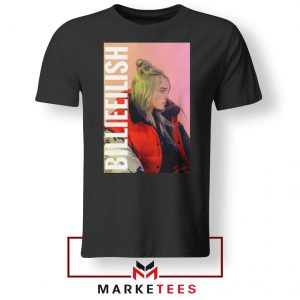 Billie Eilish Artist Poster Black Tee Shirt