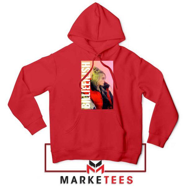 Billie Eilish Artist Poster Red Hoodie