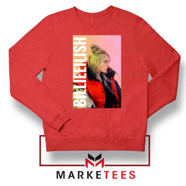 Billie Eilish Artist Poster Red Sweater