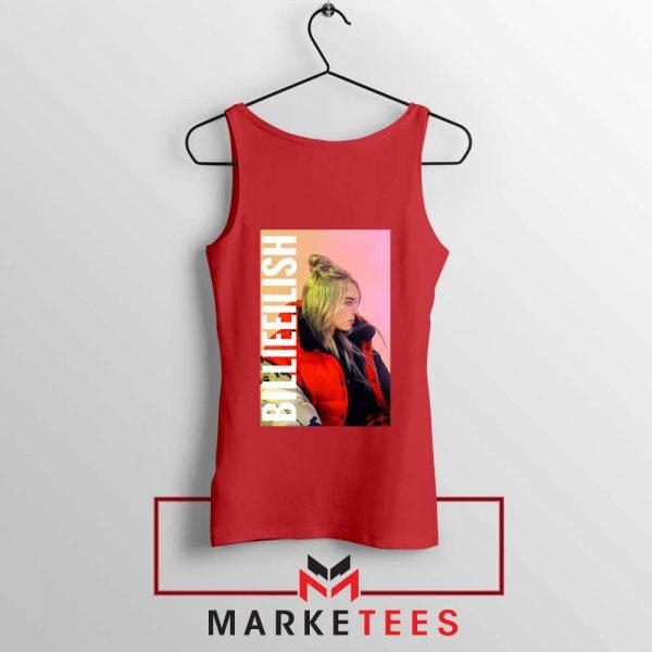 Billie Eilish Artist Poster Red Tank Top