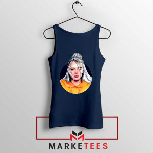 Billie Eilish Hip Hop Singer Navy Blue Tank Top