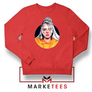 Billie Eilish Hip Hop Singer Red Sweater