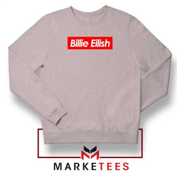 Billie Eilish Parody Supreme Sport Grey Sweater