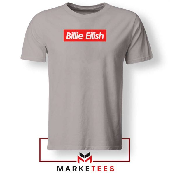 Billie Eilish Parody Supreme Sport Grey Tee Shirt
