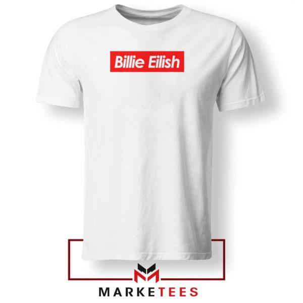 Billie Eilish Parody Supreme Tee Shirt