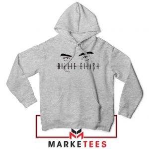 Billie Eilish Women Singer Sport Grey Hoodie
