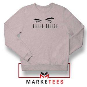 Billie Eilish Women Singer Sport Grey Sweater