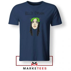 Billie Eyelash Navy Blue Tee Shirt