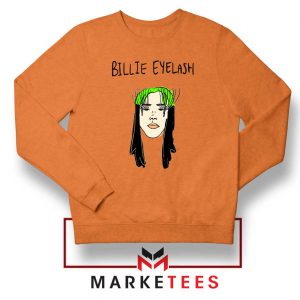 Billie Eyelash Orange Sweatshirt