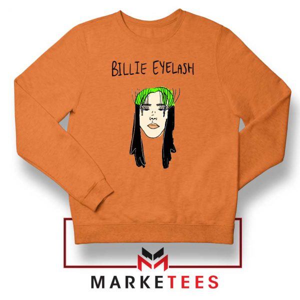 Billie Eyelash Orange Sweatshirt