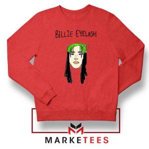 Billie Eyelash Red Sweatshirt