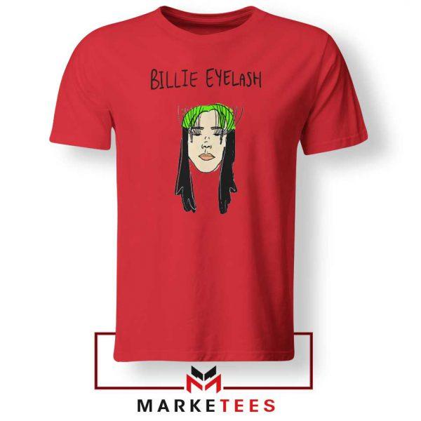 Billie Eyelash Red Tee Shirt