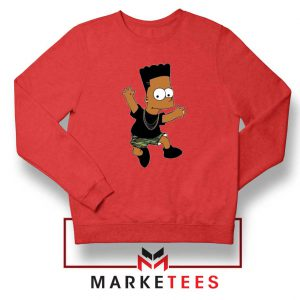 Black Bart Simpson Cartoon Sweatshirt
