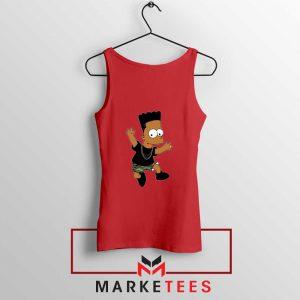Black Bart Simpson Cartoon Tank Top