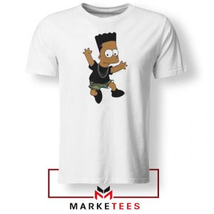 Black Bart Simpson Cartoon Tee Shirt
