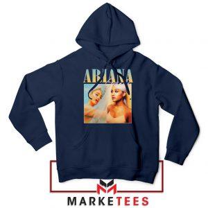 Buy Ariana Grande 90s Vintage Navy Blue Hoodie