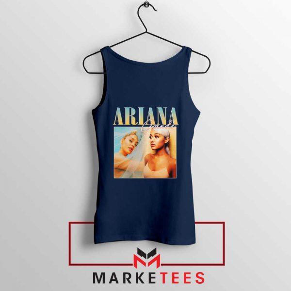Buy Ariana Grande 90s Vintage Navy Blue Tank Top