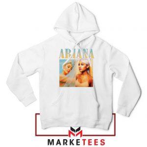 Buy Ariana Grande 90s Vintage White Hoodie