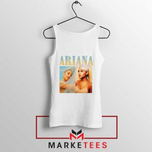 Buy Ariana Grande 90s Vintage White Tank Top