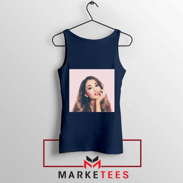 Buy Ariana Grande Posters Navy Blue Tank Top