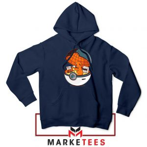 Buy Charmander Video Game Navy Blue Hoodie