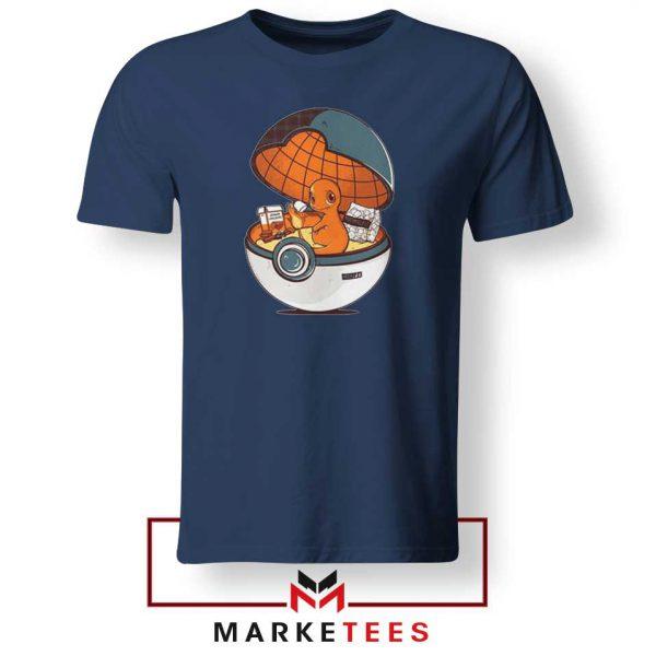 Buy Charmander Video Game Navy Blue Tee Shirt