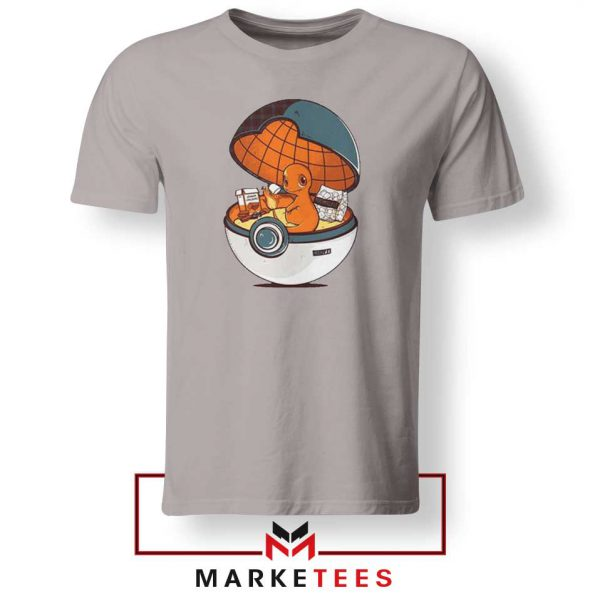 Buy Charmander Video Game Sport Grey Tee Shirt