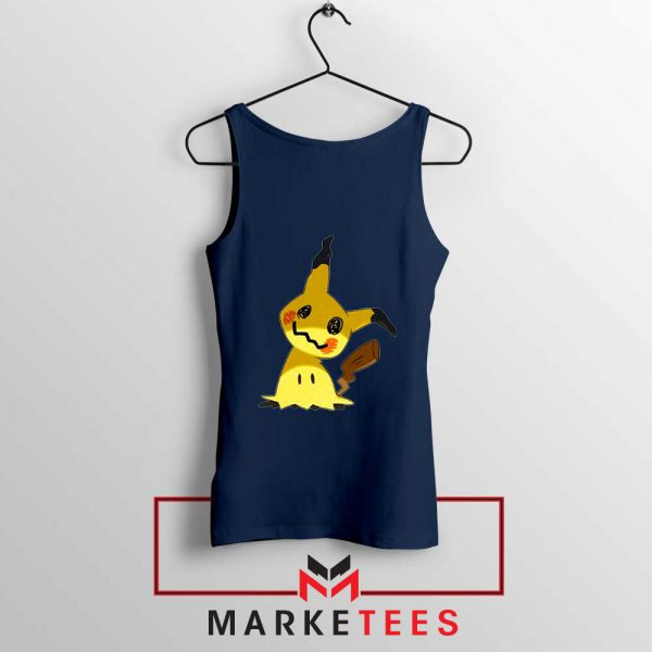 Buy Cute Pikachu Mimikyu Navy Blue Tank Top