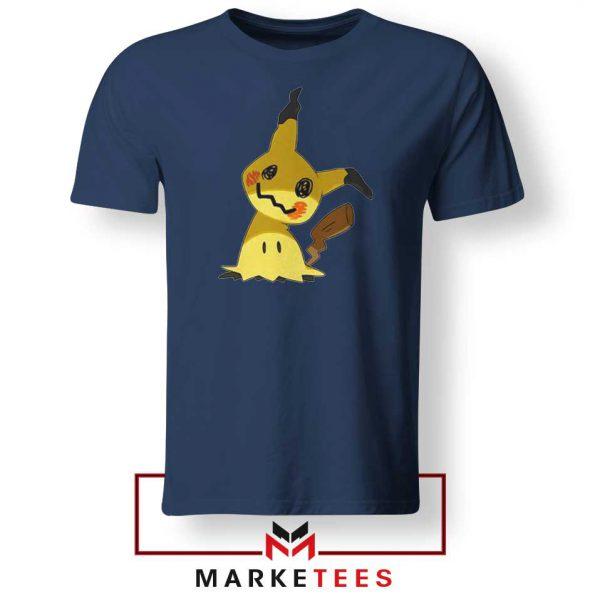 Buy Cute Pikachu Mimikyu Navy Blue Tee Shirt