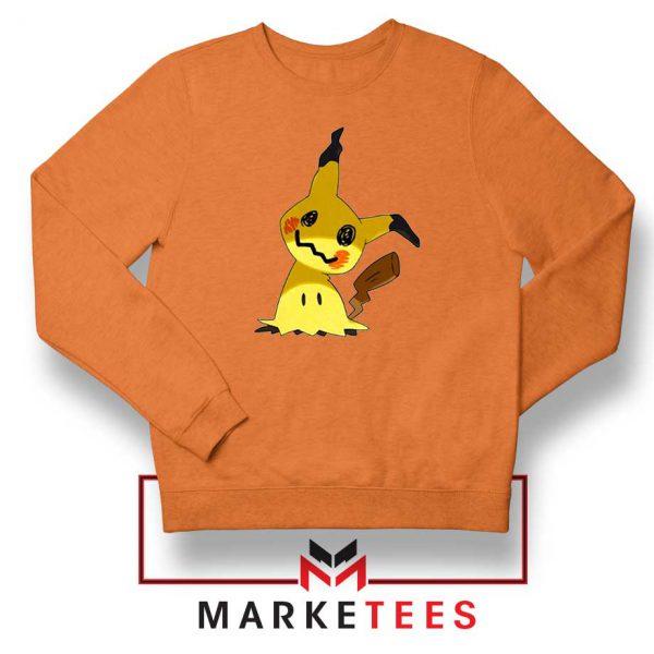 Buy Cute Pikachu Mimikyu Orange Sweater