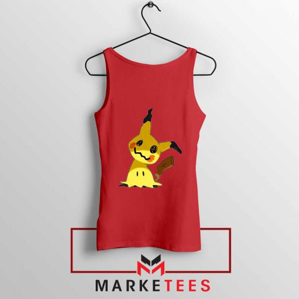 Buy Cute Pikachu Mimikyu Red Tank Top